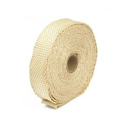 """EXHAUST INSULATING WRAP 1"""" WIDE LIGHT BROWN/TAN"""