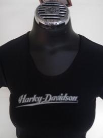 Harley-Davidson - Spandex Black S/S - XS-only Lady Shirt