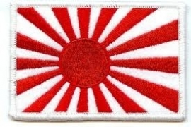 120 - Patch - Japanese War Flag Rising Sun (white border)