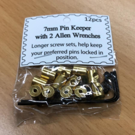 Pin Grips - 12 pack - BRASS GOLD -  Double Key!
