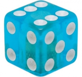 Valve Caps - Blue Dice - Clear Blue - TrikTopz
