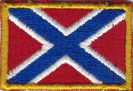 359 - PATCH with golden border - Confederate flag - Rebel flag without stars [small]