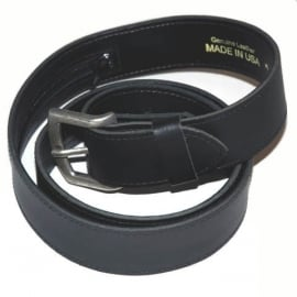 Buckle Belt - Leather - with hidden money compartiment