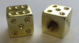 Valve Caps - Golden Dice - TrikTopz