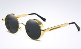Rebel Sunglasses - Steampunk - Zwart - Goud