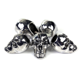 ANGRY SKULL SET of 5 - for Paracord and other