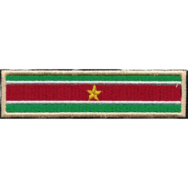 GOLDEN PATCH - SURINAM FLAG - Suriname - Stick - 95mm GOLD