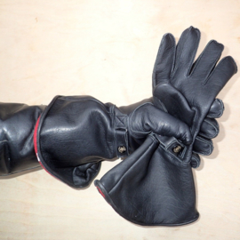 GoldTop Classic Gauntlets - Black - Red Fleece Lining