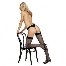 Fishnet Stockings Black O/S