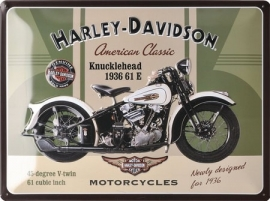 Harley-Davidson - Tin Sign - H-D Knucklehead
