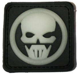 207 - Patch - Ghost Skull - PVC/rubber - Glow in the Dark
