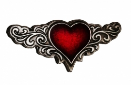 P135 - Pin - Tribal Red Heart