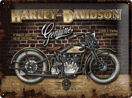 Harley-Davidson - Tin Sign - H-D 1933 V-twin