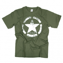 T-shirt Army Star - USA (Green)
