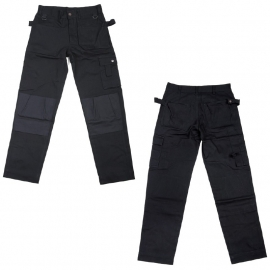 SECURITY / ARMY - work trousers - BLACK - Heavy Duty