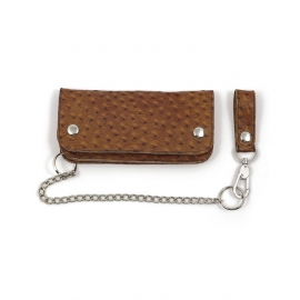 Biker Wallet - Large - La Rosa - OSTRICH LEATHER