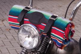Mexican blanket holder - Black leather [holder only!]