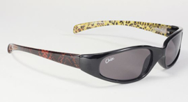 Sunglasses - KD's CHIX Heavenly Man Eater - Black Frame with LEOPARD Arms - Smoke