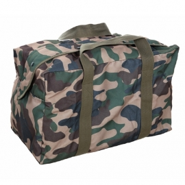 Large Pilot Bag - Canvas (Black/Army Green/Woodland)