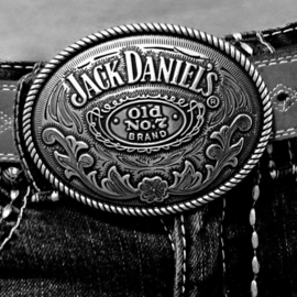 Belt Buckle - Jack Daniels - Oval