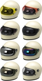 Biltwell Gringo S - Bubble Visor - Chrome Mirror