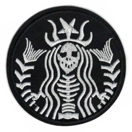 Patch - STARBUCKS logo - Skeleton style - COFFEE
