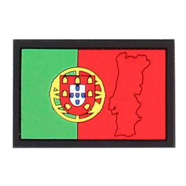 383 - PVC & VELCRO PATCH - Portuguese flag - Portugal - bandeira Portuguesa