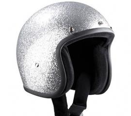 Indy-500 - Metalflake helmet - Fiberglass - Silver
