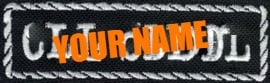 Custom Name Patch - 95x25mm - 4 idential stick-patches (choose style)
