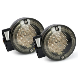 Set LED Front Turn Signals - Touring - Black