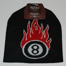 Beanie - 8 ball & flames