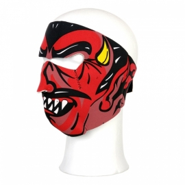 Face Mask - Full - Devil Skull - reversable to black