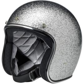 BiltWell Bonanza Helmet - Brite Silver Mega Flake (DOT)