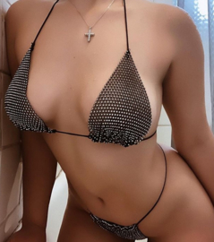 Rhinestone Crystal Diamond - Bikini - One Easy Size