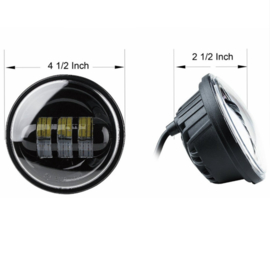 4,5 inch LED passinglights - Blacked Out (2 pieces)