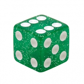 Valve Caps - Green Dice - Glitter Green - TrikTopz