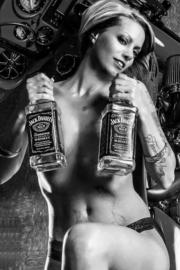 Jack Daniels - Old no.7 Jack Daniel`s - Decal/Sticker - Square
