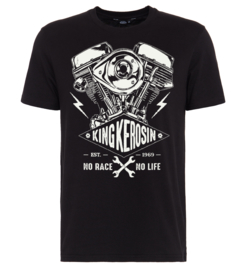 King Kerosin - Harley Engine - No Race No life -  T-shirt