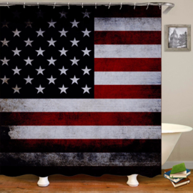shower Curtain - USA - United States of America 180x180cm - Free Rings incl.