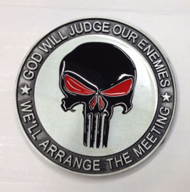 Belt Buckle - Punisher - Military - GOD WILL JUDGE
