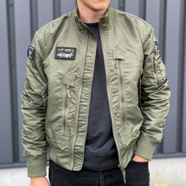 F-35 Flight Jacket - Olive Green