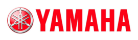 Decal - Logo Yamaha - cut out white letters -red logo