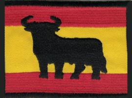 021 - Patch - Large - Spanish Flag with Bull - Spain - Espana - Torro