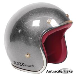 Antracite Metal Flake - Jet Helmet - ECE 22.05