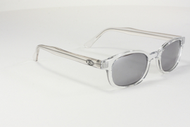 Sunglasses - Classic KD's - CHILL - Clear Frame & Silver Mirror Lens