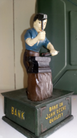 John Deere Blacksmith Mechanical Bank (vintage)
