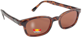 Sunglasses - X-KD's - Larger KD's -  POLARIZED - dark TORTOISE frame & AMber Lens