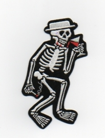 052 -  Patch - Dancing Skeleton - Social Distortion - smoking hand down