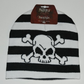 Beanie - Crossbones & Stripes - Pirate
