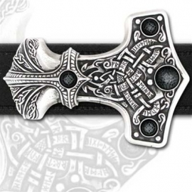 Alchemy - Thor's Thunder Hammer - Handcrafted Belt Buckle
